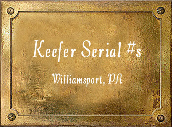 Brua C Keefer Brass Instrument Serial Numbers Williamsport PA