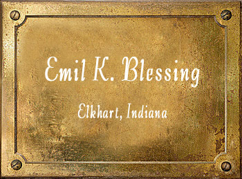 Emil K Blessing Band Instrument Company Elkhart Indiana history