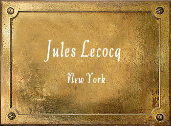 Jules Lecocq brass History New York