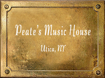 Peate's Music House brass History Utica NY