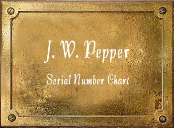 Pepper Brass Instrument Serial Numbers