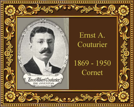 Ernat Albert Couturier cornet player instrument maker history
