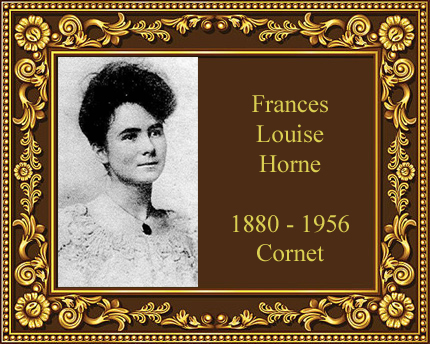 Frances Louise HOrne Cambridge Maine Cornet Player Kansas City